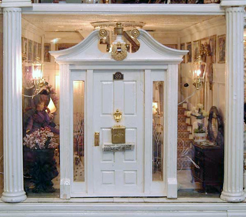 Front Door of Marianne Stengel's Dollhouse