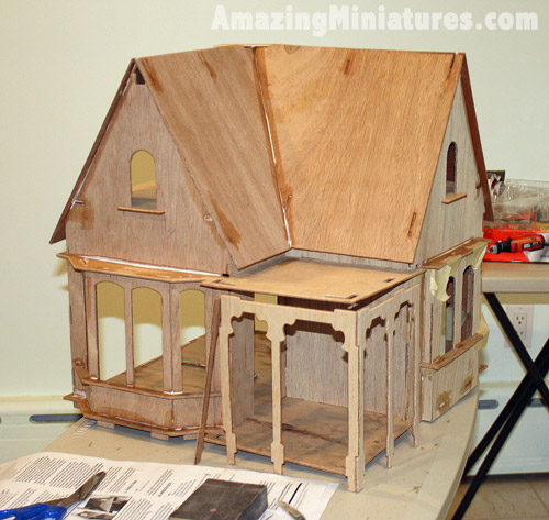 Coventry Cottage glued up!