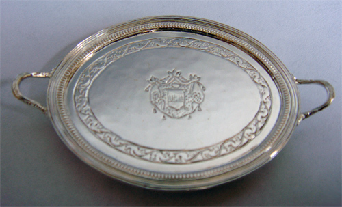 Miniature Silver English Tray by Peter Acquisto