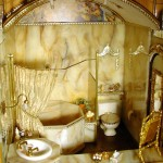 The Marble Bathroom in the Freeman's Dollhouse Castle
