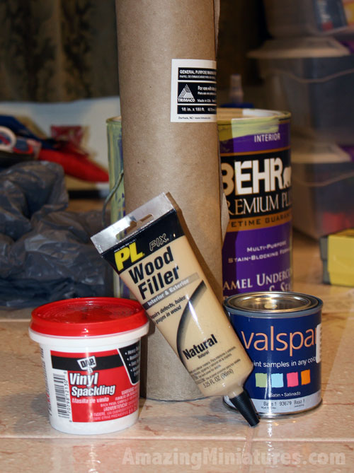 dollhouse building supplies from the hardware store