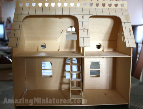 Creatology Dollhouse w/ Veranda Fully Assembled Interior