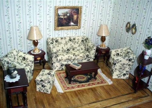 Handmade sofa footstool lamps by Wendy Elaine