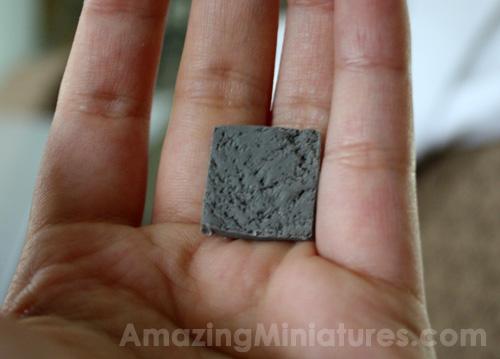 Making Miniature Quot Stone Quot Tiles