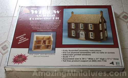The Willow Dollhouse still in its box
