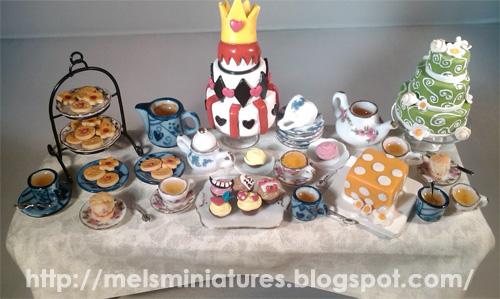 Mad Hatter Tea Party Scene by Mel's Minis