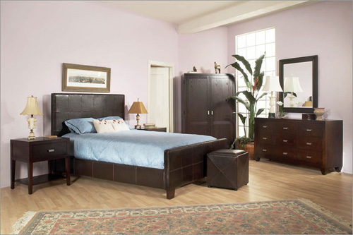 Milano Chocolate Panel Bed