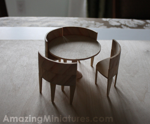 the modern circle table set is finished