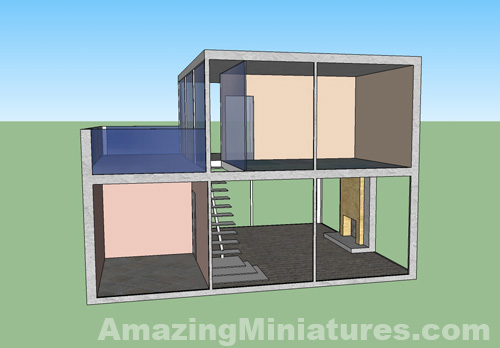 The Nyne House, A Modern Miniature Dollhouse