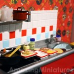 Re-Ment Miniatures Scene: A Messy Kitchen!