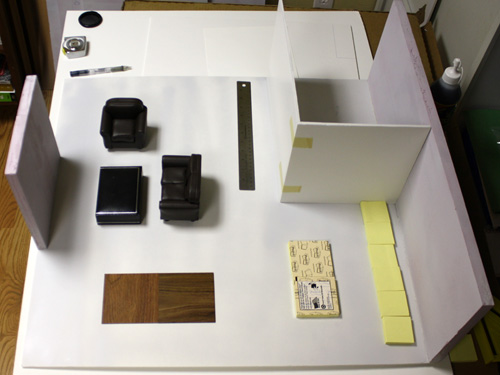 Furniture Layout of the Nyne Modern Dollshouse