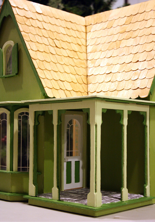 finished Coventry Cottage wooden dollhouse