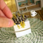 Dollhouse miniature chess set