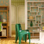 Modern dollhouse miniature scene
