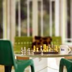 modern dollhouse miniature chess scene