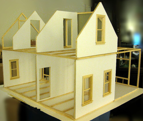 Mike's 1:12 Stick Built Hollow Wall Dollhouse