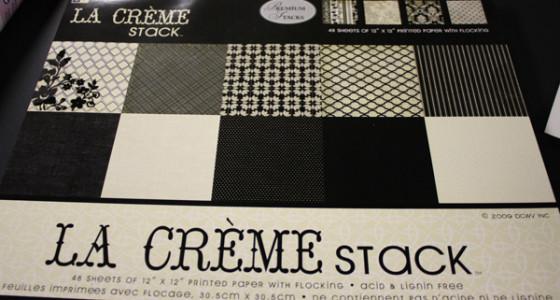 La creme scrapbook paper stack
