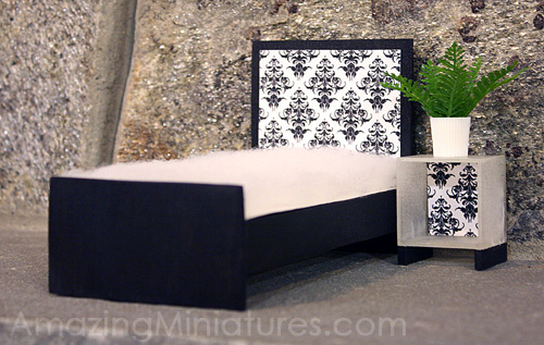 modern black miniature twin bed amazing miniatures