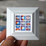 Custom Miniature Yaacov Agam Artwork Framing Project, 9-UP