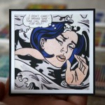 Custom Miniature Roy Lichtenstein Artwork Framing Project, Drowning Girl