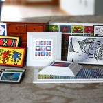 Custom Miniature Modern Artwork Framing Project - Andy Warhol, Roy Lichtenstein, Yaacov Agam, Robert Indiana, Keith Haring