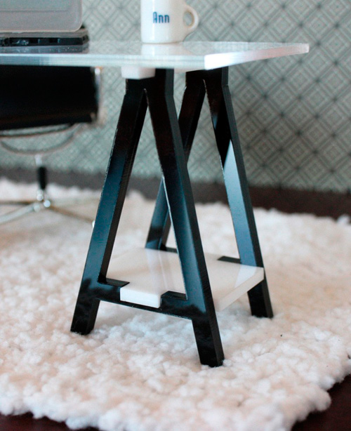 I-Inspired Series IKEA: Vika-esque Desk Legs, Modern Dollhouse Miniature Furniture