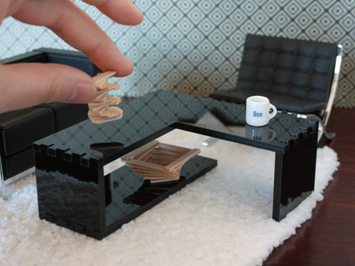 Locke Series: Coffee Table X1 Prototype, Modern Dollhouse Miniature Furniture