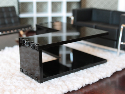 Locke Series: Coffee Table X2 Prototype, Modern Dollhouse Miniature Furniture
