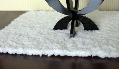 Shag rug made by TheShoppingSherpa.blogspot.com