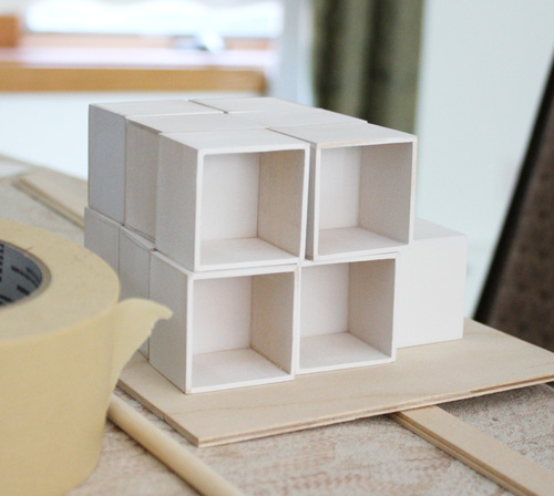 Modern Dollhouse Furniture, Cube Cubby by Ann Nguyen