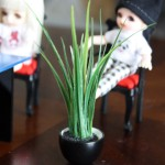Miniature swap from FranMadeMinis: Large plant