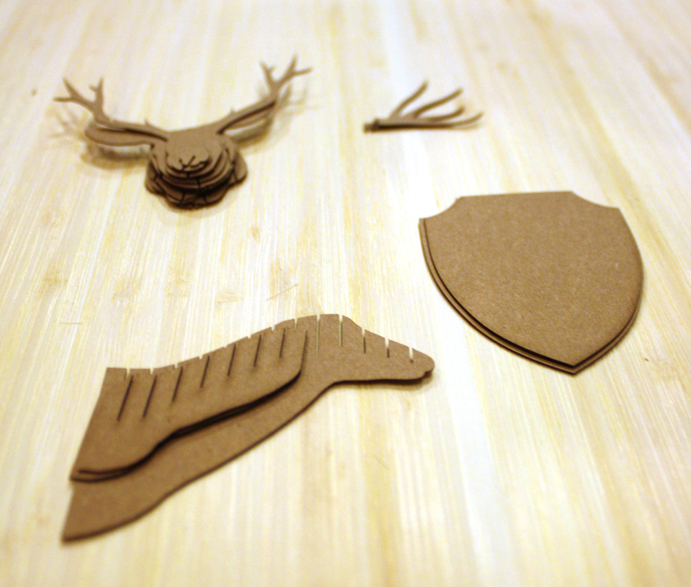 assembly instructions for cardstock deer trophy head   amazing miniatures