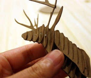 24glue 300x256 Assembly Instructions for Cardstock Deer Trophy Head
