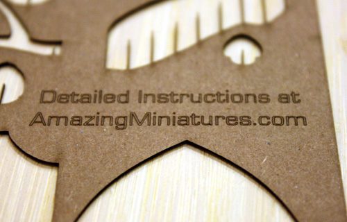 Detailed Instructions for Amazing Miniatures Kits