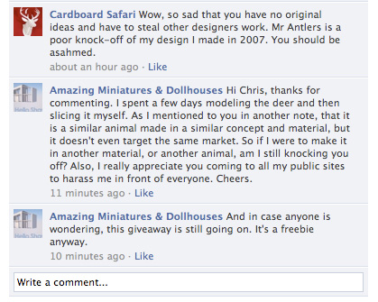 cs facebook comments On Counterfeits & Miniatures