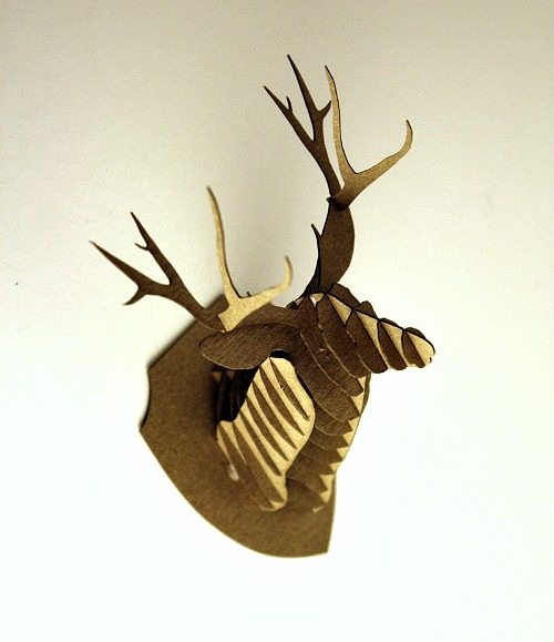 Mr. Antlers: Mini Cardboard Deer Head Kit Giveaway!